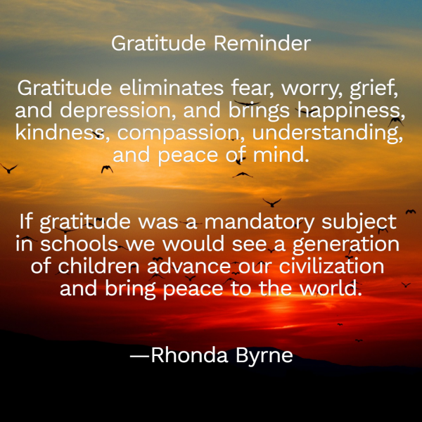 Gratitude quote By Rhonda Byrne